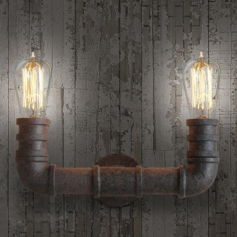 2 Head Duo Water Pipe Wall Light
