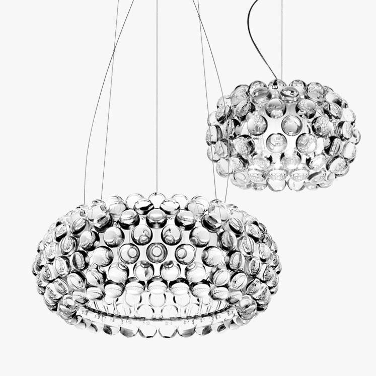 Pendant Light Glass Acrylic Shade Inspired by Foscarini Caboche Pendant