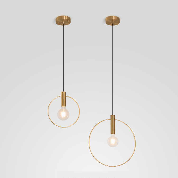 Circle Ring Geometry Pendant Light