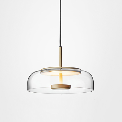 Two Layer LED Clear Glass Pendant Light