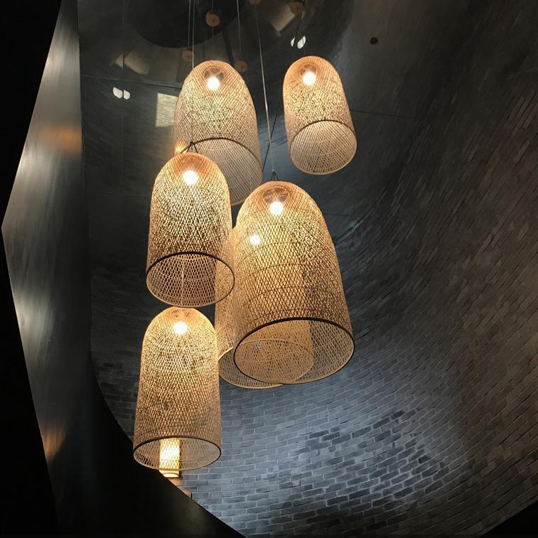 Kandang Rattan Bamboo Cage Pendant Light