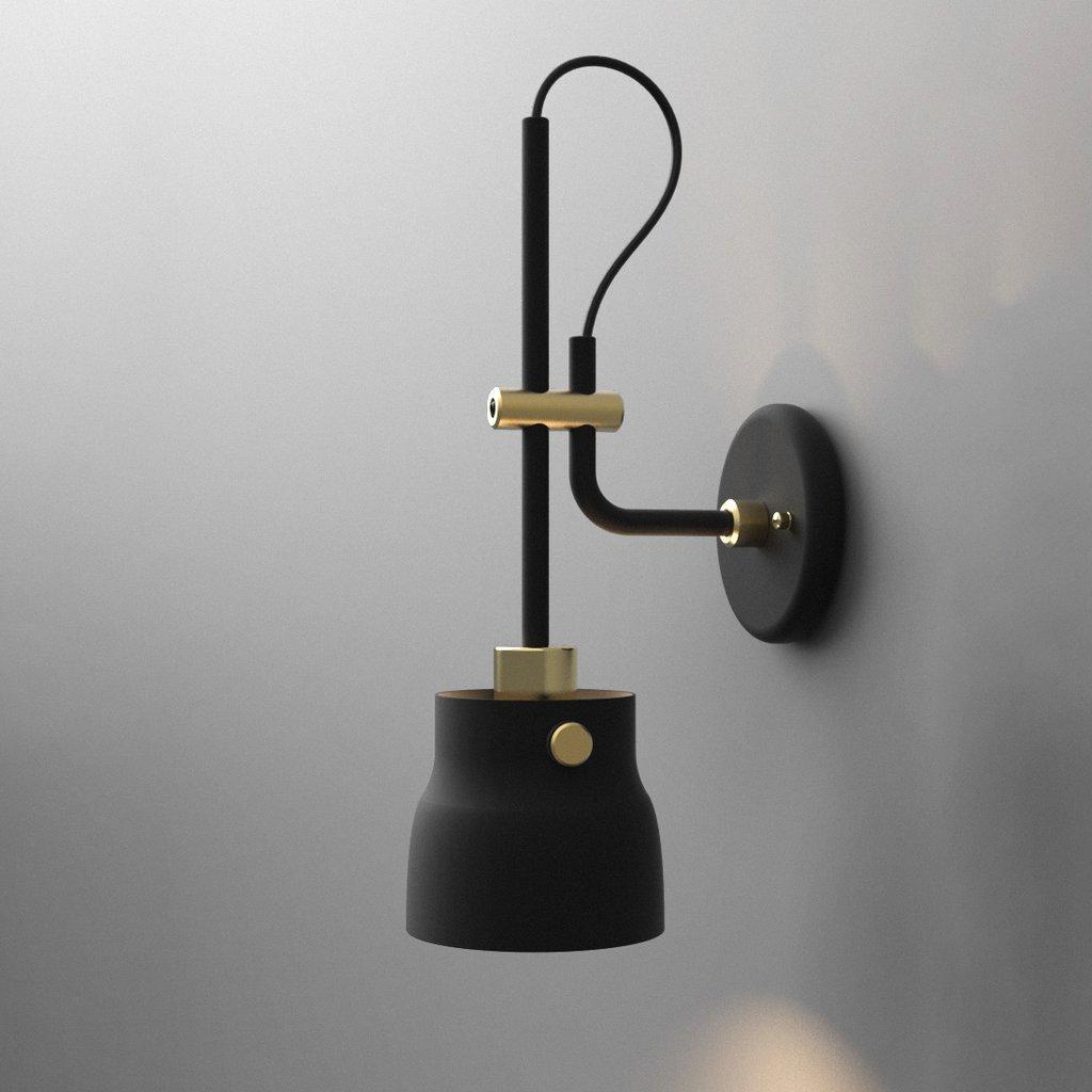 Black Adjustable Wall Light