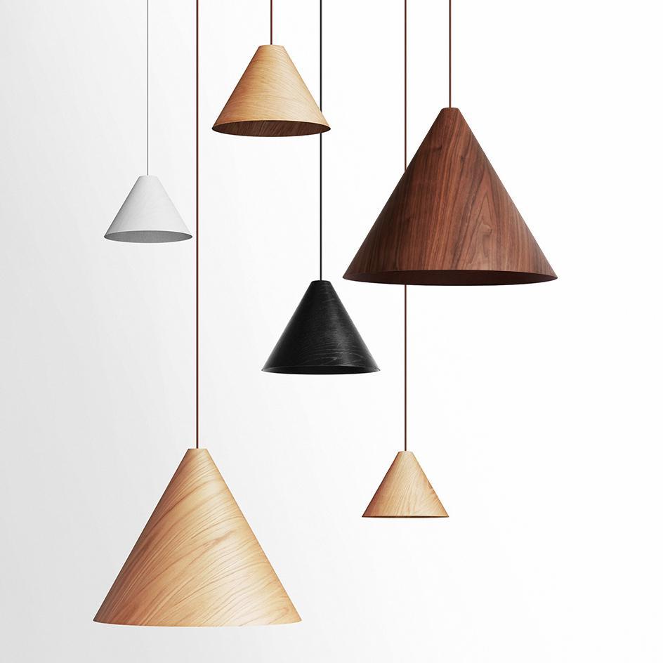 Wooden Cone Pendant Light