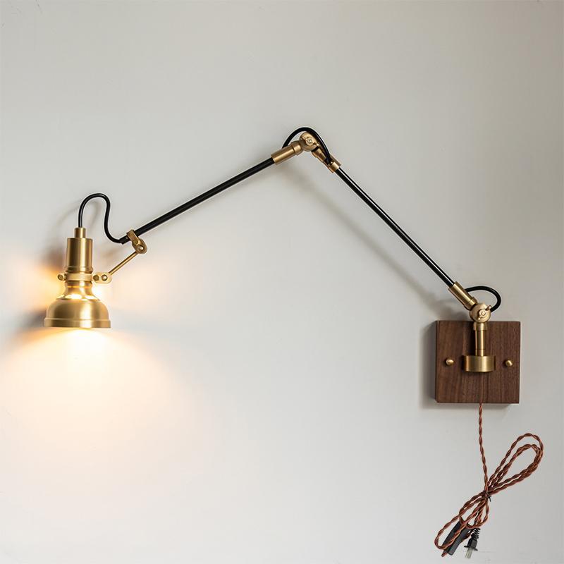 Mill House Long Arm Brass Wall Light