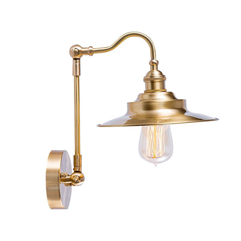 Brass Gooseneck Wall Light