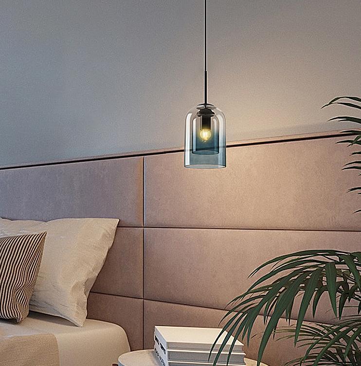 Harper Glass Shade Modern Minimalist Pendant Light