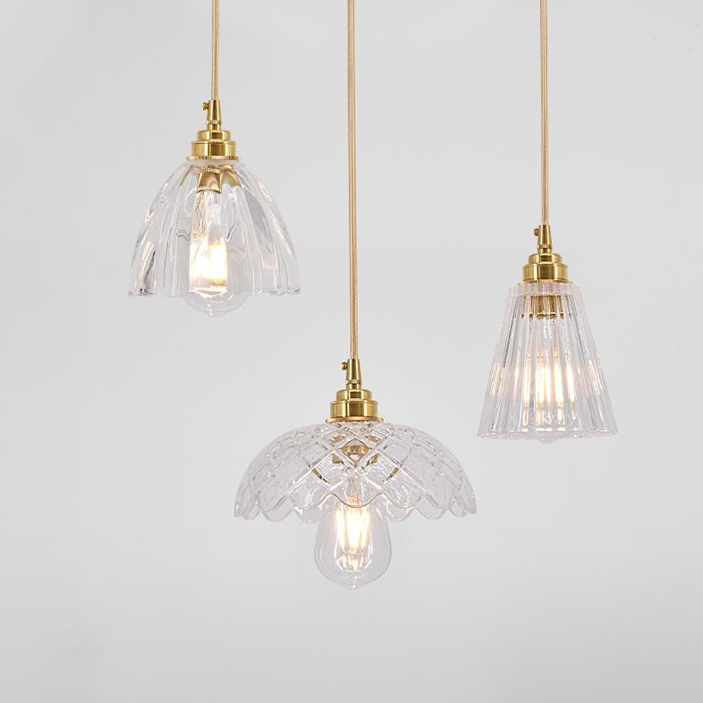 Betty Glass Mid Century Pendant Light