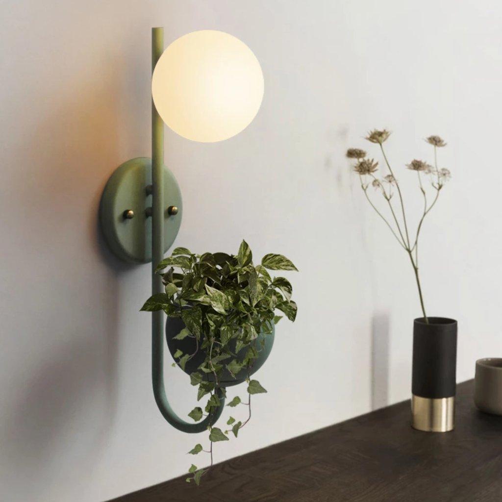 Ritz Single Head Pot Plant Wall Light